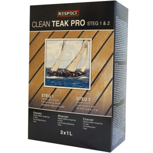 Respect teak clean pro kit 2 x 1 liter