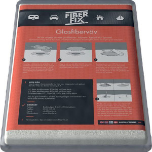 Fiber fix epoxy glasfibermåtte 200 gr 1 x 1 m